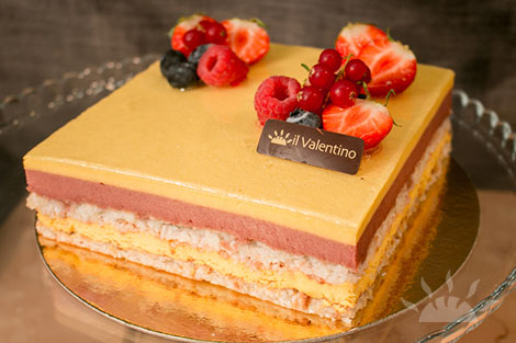 Mango & Strawberry Bavaroise | Il Valentino Bakery & Cafe | Best Cakes in Dublin