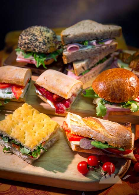 Lunch Artisan Panini & Focaccia platter | Il Valentino Bakery & Cafe | Best Cakes in Dublin